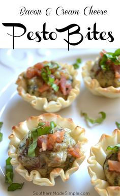 Cream Cheese and Bacon Pesto Bites - A delicious appetizer perfect for any occasion!