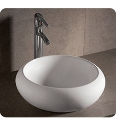 Whitehaus WHKN1090 Round Above Mount Basin with Center Drain - Isabella Series