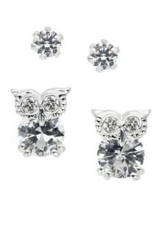 New Directions  Owl Duo Earring Set