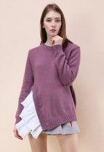 Asymmetrical Beauty Sweater in Purple
