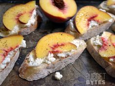 Peach Ricotta Crostini - Budget Bytes Unfortunately it was a little bland :( needed some kind of kick