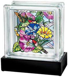 Amia 41727 Hand Painted Glass Block Lamp with Base, 6-1/4-Inch, Hummingbird Floral Amia http://www.amazon.com/dp/B00KL9EZZ6/ref=cm_sw_r_pi_dp_Tsv9ub1KRE88B