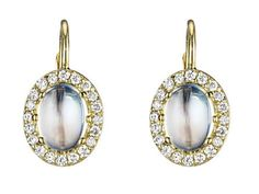 Penny Preville Yellow Gold, Diamond and Moonstone Earrings