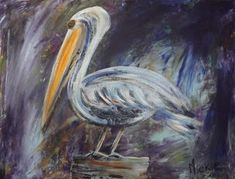 Paint an Impressionist Pelican in Acrylics Animal Drawings, Impressionist, Acrylics, Arts And Crafts, Pretty, Artist, Blog, Painting, Animals