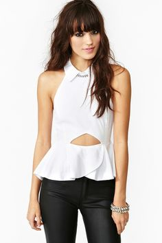 Claudia Peplum Top