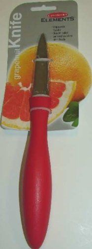 Culinary Elements Grapefruit Knife - Ideal for a Hostess Gift or for Tropically Themed Parties, for Restaurants and Home Kitchens - Wholesale and Retail by Culinary Elements. $4.23. Perfect for Sectioning Grapefruit. Grapefruit is so good but it can make quite the morning mess. Keep your clothes and counters free from grapefruit juice with Harold Imports ' squirt-free grapefruit knife. The serrated double blades provide easy, squirt-free slices every time. Use the curve...