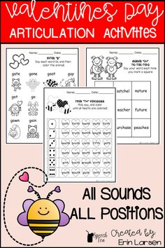 Easy print-n-go arctic resource. Valentine's Day articulation activities for all sounds in all positions. Click for more info.