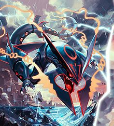 When will Shiny Mega Rayquaza appear in the Pokèmon series? Pokemon Rayquaza, Pokemon Gif, Pokemon Fan Art, Dragon Type Pokemon, Mega Rayquaza, Pokemon Fusion, Cool Pokemon Wallpapers, Mega Evolution, Pokemon Pictures