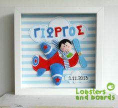 Handmade felt personalised box frame