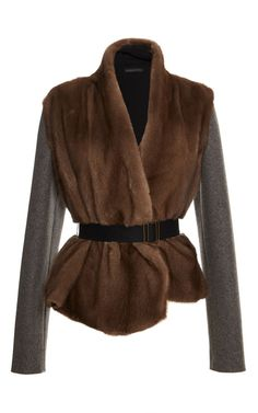 Belted Mink Jacket by Inès & Maréchal for Preorder on Moda Operandi
