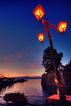 Peschiera del Garda by Night , Italy via flickr