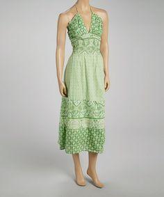 Another great find on #zulily! Cilantro Geo Pleated Halter Dress #zulilyfinds
