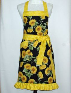 Sunflower Apron Kansas State Flower Apron by AGiftToTreasure