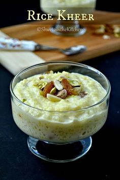 Rice kheer is a traditional Indian rice pudding and extremely popular during festivals and celebrations. You only need rice, milk, sugar, cardamom, and nuts to make this creamy dessert! Vegetarian, one-pot, and gluten-free.  #kheer #instantpot #indiandessert #rice #indiansweet Indian Dessert Recipes, Indian Sweets, Indian Recipes, Ethnic Recipes, Indian Rice Pudding, Rice Kheer, Thing 1, Gluten Free Snacks, Kitchens