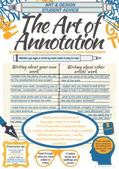 Get better annotation from your Art and Design students - easy to follow printable guide!