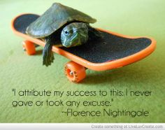 """""""I attribute my success to this: I never gave or took any excuse."""" ~Florence Nightingale #initiative #success #inspirationalquotes"""