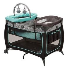 Keep baby close by and comfortable with the Safe Stages™ Play Yard. This three-way convertible play yard adjusts easily to keep your growing baby comfortably