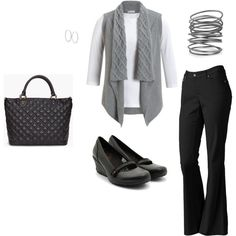 Casual work outfit but different shoes!!!! find more women fashion ideas on www.misspool.com