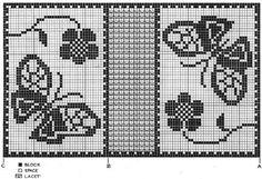Free Filet Crochet Patterns Butterflies In The Garden Filet Crochet Free Pattern Vintage Free Filet Crochet Patterns Free Filet Crochet Pattern Jesus Face 110 X 170 Squares Religious. Free Filet Crochet Patterns Filet Teddy Bear Blanket Th. Crochet Curtains, Tapestry Crochet, Crochet Doilies, Crochet Patterns Filet, Crochet Designs, Cross Stitch Patterns, Crochet Fish, Crochet Home, Free Crochet