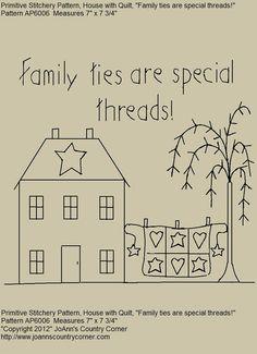 ... patterns famili tie primitive patterns primitive house pattern family
