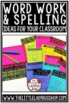 Get some great tips for Spelling Activities for Any List of Word. You will love using this packet of Word Work Activities for your Spelling, or Vocabulary Activities programs. #wordworkactivities #spellingactivities
