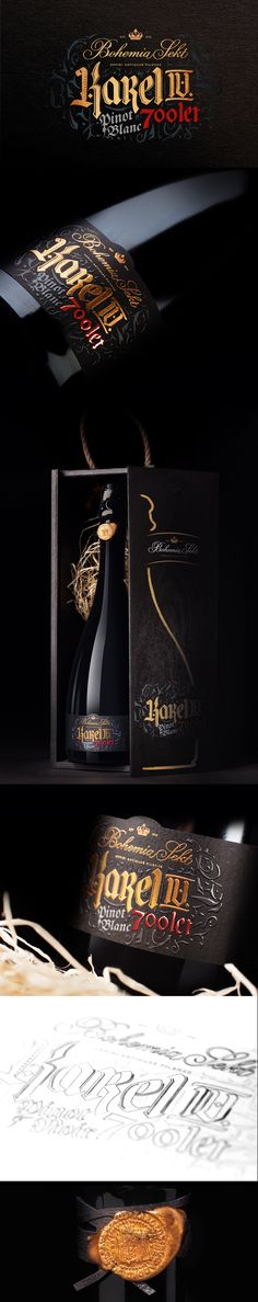 Fiala & Šebek's design celebrating Charles IV's anniversary. 700 years, a limited edition of 700 exclusive bottles.