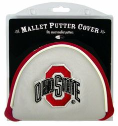 NCAA Ohio State Mallet Putter Cover by Team Golf. $14.95. Made with Buffalo Vinyl and Polyester Knit. Easily slips on and off the putter. Velcro closure. Fits most mallet putters. 2 location embroidery includes both logo and wordmark. Protect your putter while supporting your favorite collegiate team with this officially licensed NCAA® mallet putter cover from Team Golf. The cover fits most mallet putters and includes a fleece lining for extra club protection. A strong ...