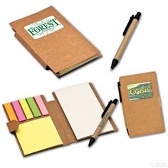 These notebooks will get use long after your project is complete. Great promotional business items or art items.