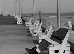 Santa sleeping on the boardwalk by Delaware Public Archives on Flickr.