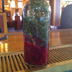Raspberry and Thyme infused gin- deliciously dangerous