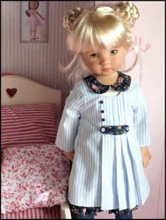 Marie dressed schoolgirl and her room - the dream life of Clara and Co. dolls Cheries