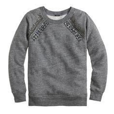 Jeweled raglan sweatshirt : new arrivals | J.Crew