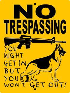 GERMAN SHEPHERD Dog Sign 9x12 Aluminum 3388GS by animalzrule, $12.00