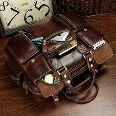 Handmade Superior Leather Travel Bag / Messenger / Duffle Bag
