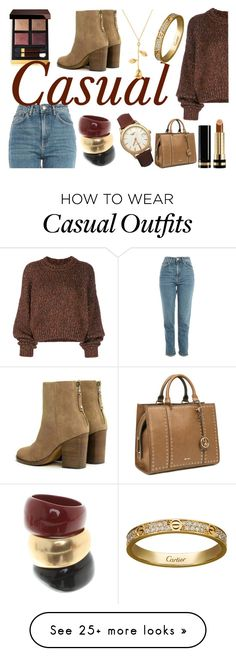 """""""Casual #30"""" by flamingolanibean on Polyvore featuring Tom Ford, rag & bone, Topshop, Isabel Marant, Gucci, Nine West, Salvatore Ferragamo, Longines and Cartier"""