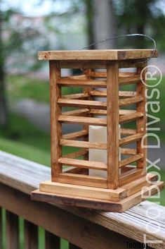 DIY Wooden Lantern That Looks Like You Bought It Looking for decorative elements for your deck or patio.  Hang or place on a table.  These are elegant, simple, rustic, sophisticated and Asian inspired wooden lanterns. Create/ build these quick and easy woodworking project  DIY Wooden Lantern - Toolbox Divas