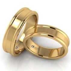 Acest model se deosebeste prin exteriorul cu finisaje lucioase format dintr-o bentita dreapta incadrata de doua benzi laterale rotunde, bombate si prin interiorul de tip semiconfort. Selena, Wedding Rings, Engagement Rings, Bride, Jewelry, Fashion, Enagement Rings, Wedding Bride, Moda