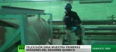 Video: Primeras imágenes de la destrucción de armas químicas en Siria. Aristegui Noticias