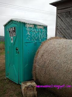 getting down on the farm country wedding ideas, Krista you should really decorate a porta potty with Christmas lights hahah