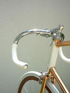 copper-plated shiny Vanguard Yura design bicycle - #bike #design #bicycle #inspiration #creative #frame