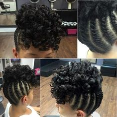 braided updo with a curly top for black hair natürliches Haar 60 Easy and Showy Protective Hairstyles for Natural Hair Protective Hairstyles For Natural Hair, Natural Hair Updo, Natural Hair Care, Natural Hair Styles, Natural Updo Hairstyles, Beautiful Hairstyles, Medium Length Natural Hairstyles, Natural Black Hair, Cornrow Updo Hairstyles