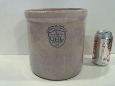 Old Antique Acorn Wares Uhl Pottery Co Crock Huntingburg Indiana