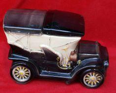 VINTAGE C.1960'S MCCOY TOURING CAR COOKIE JAR POTTERY