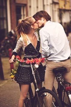 Wonderful. I love when he leans over for a kiss half way through our bike rides.