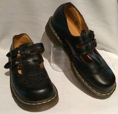 db9effdefd1 Dr. Martin s DOC Vtg Black Double Buckle Leather Mary Jane UK6 US Women s  Size 8
