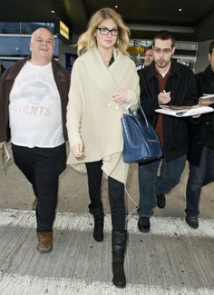 Kate Upton arrives at JFK Airport in New York City.