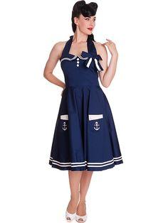 HELL BUNNY Motley, navy 50er Jahre Rockabilly Kleid Vintage Kleider, Rockabilly  Kleider, Kleider e5c43c80b6