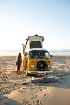 "van-life: "" Model: James Barkman's 1970's Volkswagen Westfalia Location: Pismo Beach, CA Photo: Sean Raymond Collier solitudeseeking.tumblr.com """