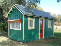 Many people consider a tiny house big living. Tiny houses have smaller sized everything. They have smaller appliances, smaller living. Backyard Buildings, Small Buildings, Tiny House Blog, Little Houses, Tiny Houses, Building Images, Farm Cottage, Cottage Ideas, Safe Room
