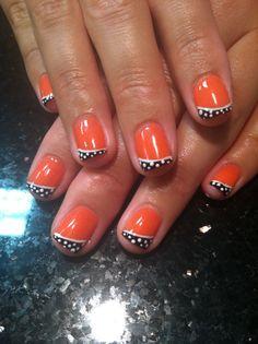 CND Shellac desert poppy n polka dots
